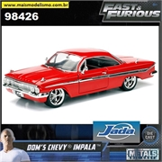 Fast and Furious - 1961 Doms Chevy Impala - Jada - 1/24