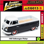 1965 - VW Kombi Pickup Preta - Johnny Lightning - 1/64