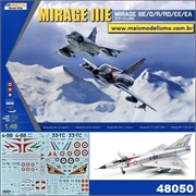 Mirage III E / O / R / RD / EE / EA - Kinetic Model Kits- 1/48