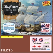 Caravela Mayflower Pilgrim Ship - Lindberg - 1/250