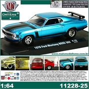 1970 - Ford MUSTANG BOSS 302 Azul - M2M - 1/64