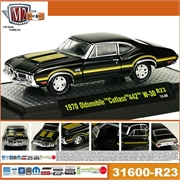1970 - OLDSMOBILE Cutlass 442 W-30 Preto - M2M - 1/64