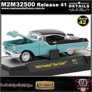1955 - Pontiac Star Chief R41 Azul - M2 Auto-Thentics - 1/64