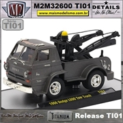 1956 - Dodge L600 Tow Truck Titanium - M2Machines - 1/64