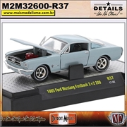 1965 - Ford Mustang Fastback 2 2 200 Azul R37 - M2Machines - 1/64