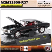 1968 - Pontiac Firebird Sprint Preto R37 - M2Machines - 1/64