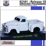 1954 - Chevrolet 3100 Truck R15 Branco - M2 Machines - 1/64