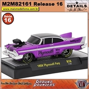 1958 - Plymouth Fury R16 Roxo - M2 Machines - 1/64