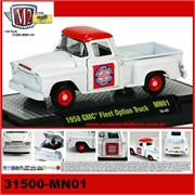 1958 - GMC FLEET Option Truck Branco - M2M - 1/64