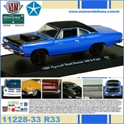 1969 - Plymouth ROAD RUNNER 440 G-Pack R33 Azul - M2M - 1/64