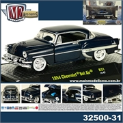 1954 - Chevrolet Bel Air Stock Azul - M2M - 1/64