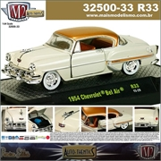 1954 - Chevrolet BEL AIR R33 Branco - M2 Auto-Thentics - 1/64