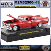 1957 - Dodge Custom Royal Lancer D500 R49 Vermelho - M2 Auto-Thentics - 1/64