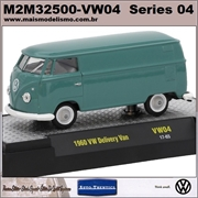 1960 - Volkswagen KOMBI Delivery VW04 Azul - M2 Machines - 1/64