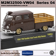 1961 - Volkswagen KOMBI Cab Dupla VW04 Marrom - M2 Machines - 1/64