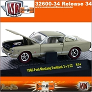 1966 - Ford MUSTANG GT 2 2 Fastback R34 Beje - M2M - 1/64