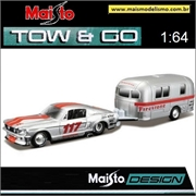 1967 - Ford Mustang GT e Camper Trailer - Maisto - 1/64