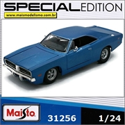 1969 - DODGE CHARGER R/T Azul - Maisto - 1/25