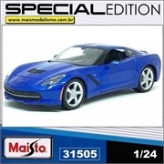 2014 - Corvette Stingray Azul - Maisto - 1/24