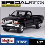 1999 - Ford F-350 SUPER Duty Pickup Preta - Maisto - 1/27