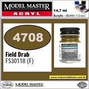 Tinta Model Master 4708 Acryl CAMPO DRAB Fosco FS30118 - 14,7ml