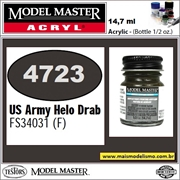 Tinta Model Master 4723 Acryl US ARMY HELO DRAB FS34031 - 14,7ml