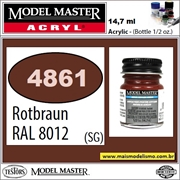 Tinta Model Master 4861 Acryl ROTBRAUN RAL6012 Semi-Brilho - 14,7ml