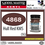 Tinta Model Master 4868 Acryl HULL RED KMS - 14,7ml
