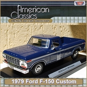 1979 - Ford F-150 PICKUP Custom Azul - Motormax - 1/24