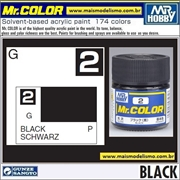 Tinta Gunze Acrílica Mr Color C  2 PRETO Brilho - 10ml