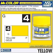 Tinta Gunze Laca Acr Mr Color C  4 AMARELO Brilho - 10ml