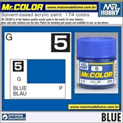 Tinta Gunze Laca Acr Mr Color C  5 AZUL Brilho - 10ml