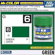 Tinta Gunze Laca Acr Mr Color C  6 VERDE Brilho - 10ml