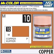 Tinta Gunze Laca Acr Mr Color C 10 COBRE Metálico - 10ml