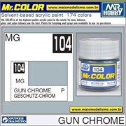 Tinta Gunze Laca Acr Mr Color C104 CROMO GUN Metálico - 10ml