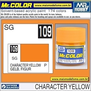 Tinta Gunze Laca Acr Mr Color C109 AMARELO FIGURA Semi-Brilho - 10ml