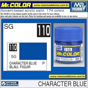 Tinta Gunze Laca Acr Mr Color C110 AZUL FIGURA Semi-Brilho - 10ml