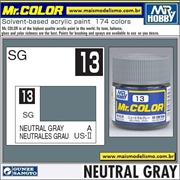 Tinta Gunze Laca Acr Mr Color C 13 CINZA NEUTRO Semi-Brilho - 10ml