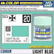 Tinta Gunze Laca Acr Mr Color C 20 AZUL CLARO Semi-Brilho - 10ml