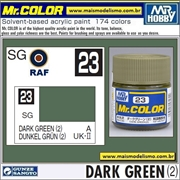 Tinta Gunze Acrílica Mr Color C 23 VERDE ESCURO Semi-Brilho - 10ml