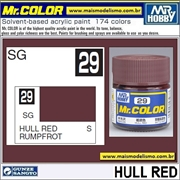 Tinta Gunze Acrílica Mr Color C 29 HULL RED Semi-Brilho - 10ml