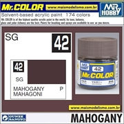 Tinta Gunze Laca Acr Mr Color C 42 MAHOGANY Semi-Brilho - 10ml