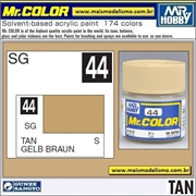 Tinta Gunze Laca Acr Mr Color C 44 TAN Semi-Brilho - 10ml