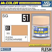 Tinta Gunze Laca Acr Mr Color C 51 FLESH Semi-Brilho - 10ml
