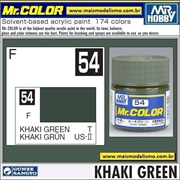 Tinta Gunze Laca Acr Mr Color C 54 KHAKI GREEN Fosco - 10ml