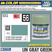 Tinta Gunze Laca Acr Mr Color C 56 IJN GRAY GREEN - 10ml
