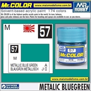 Tinta Gunze Laca Acr Mr Color C 57 VERDE AZULADO Metálico - 10ml