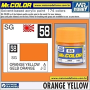 Tinta Gunze Laca Acr Mr Color C 58 AMARELO ALARANJADO - 10ml