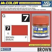 Tinta Gunze Laca Acr Mr Color C  7 MARROM Brilho - 10ml