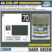Tinta Gunze Laca Acr Mr Color C 70 VERDE ESCURO Fosco - 10ml